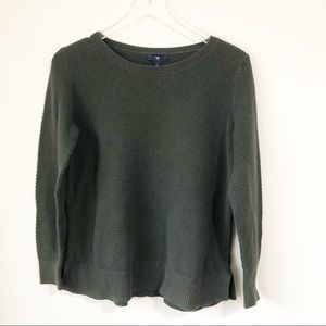 Gap | Green waffle knit sweater